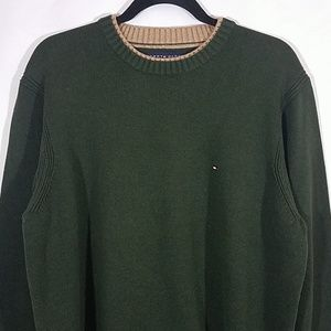 Tommy Hilfiger Sweaters - Tommy Hilfiger Green Heavyweight Pullover Sweater